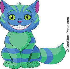 kot, uśmiechanie się, cheshire