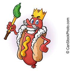 król, gorący, litera, pies, rysunek