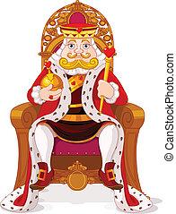 król, tron