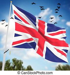 królestwo, bandera, zjednoczony