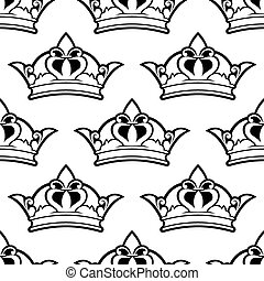 królewska korona, seamless, próbka