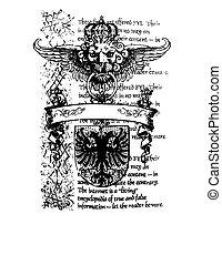 królewski, heraldyczny, emblemat