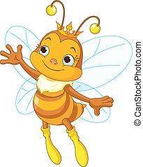 królowa, pokaz, pszczoła