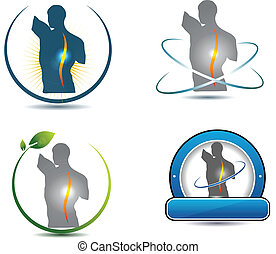 kręgosłup, symbol, zdrowy