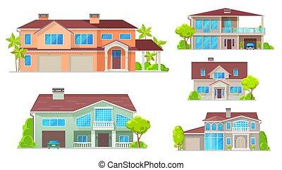 kraj, dwór, chata, willa, dom, bungalow