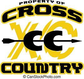 kraj, projektować, krzyż