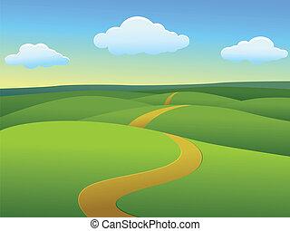 krajobraz, piękny