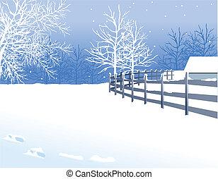 krajobraz, zima