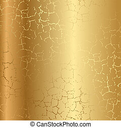 krakelura, złoty, struktura