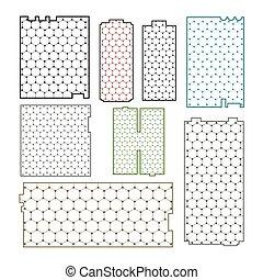 krata, graphene, tło, kształt