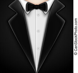 krawat, łuk, smoking