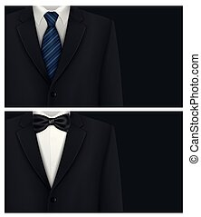 krawat, garnitur, tło, łuk