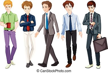 krawat, mężczyźni, garnitur