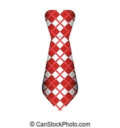 krawat, samiec, fason, odizolowany, ikona