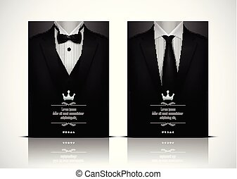 krawat, smoking, garnitur, czarnoskóry, łuk