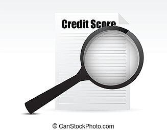 kredyt, karb, szkło powiększające
