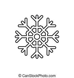 kreska, święto, icon., ferie, partia, tło., ilustracja, boże narodzenie, kryształ, karnawał, zima, modny, dzieci, wektor, ozdoba, happiness., vintage., płatki śniegu, wypadek, element, linearny, tradycyjny