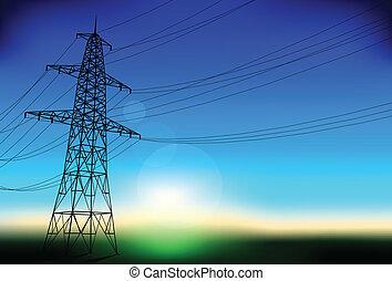 kreska, elektryczność