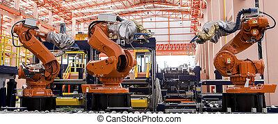 kreska, produkcja, roboty, spawalniczy
