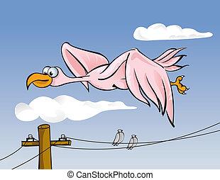 kreska, ptak, moc
