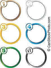 krok, koło, tło, liczba