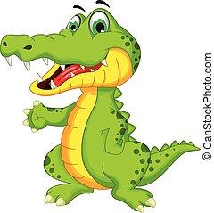 krokodyl, przedstawianie, rysunek