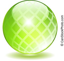 kryształ, wektor, zielony, jabłko