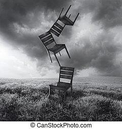krzesła, ruchomy