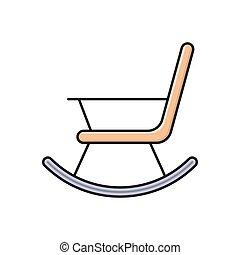 krzesło, kołysanie