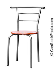 krzesło, nowoczesny, odizolowany, tło, biały