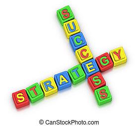 krzyżówkowa zagadka, :, powodzenie, strategia