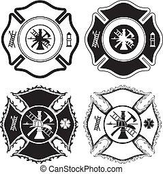 krzyż, firefighter, symbolika