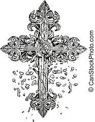 krzyż, ilustracja, klasyk