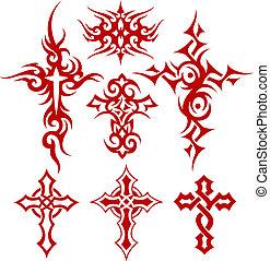 krzyż, symbol, plemienny, woluta
