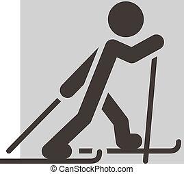 krzyż-wersalski sport narciarski, ikona