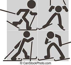 krzyż-wersalski sport narciarski, ikony