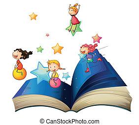 książka, grający dziećmi