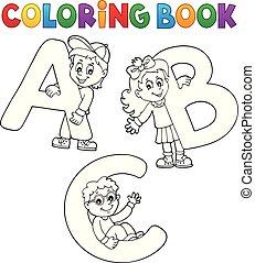 książka, kolorowanie, beletrystyka, abc, dzieci