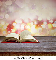 książka, otwarty