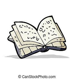 książka, otwarty, rysunek