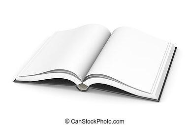 książka, otwarty, sparse.