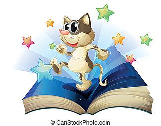 książka, taniec, kot