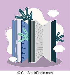 książki, natura foliage