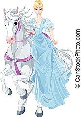 księżna, jeżdżenie, koń