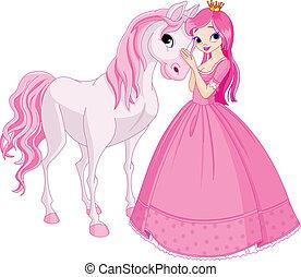księżna, koń, piękny