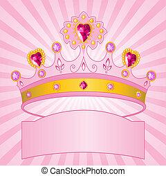 księżna, promieniowy, korona, backgrou