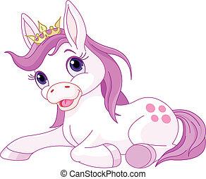 księżna, spoczynek, sprytny, koń
