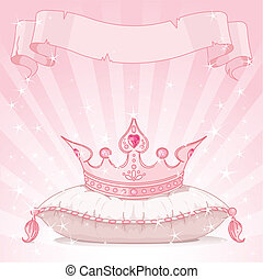 księżna, tło, korona
