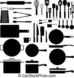 kuchenny sprzęt, sylwetka