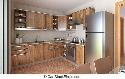 kuchnia, nowoczesny, projektować